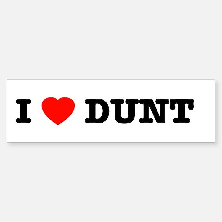 I Heart Dunt Sticker for the Pulsie
