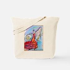 Falmenco dancer, bright Tote Bag