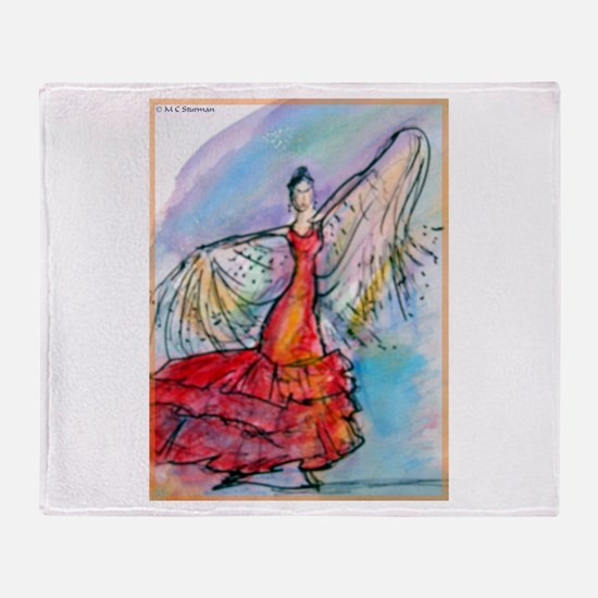 Falmenco dancer, bright Throw Blanket