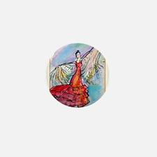 Falmenco dancer, bright Mini Button (10 pack)