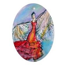 Falmenco dancer, bright Ornament (Oval)