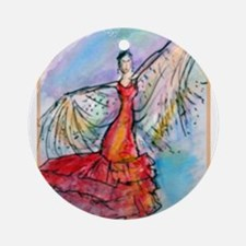 Falmenco dancer, bright Ornament (Round)