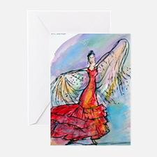 Falmenco dancer, bright Greeting Cards (Pk of 10)