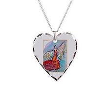 Falmenco dancer, bright Necklace Heart Charm