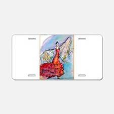 Falmenco dancer, bright Aluminum License Plate