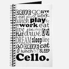 Cello Gift Music Life Journal