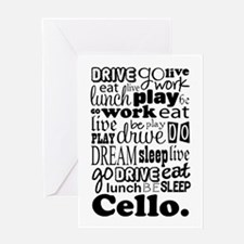 Cello Gift Music Life Greeting Card