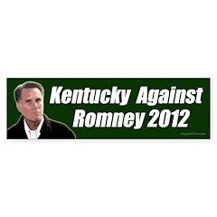 Kentucky Against Romney bumper sticker
