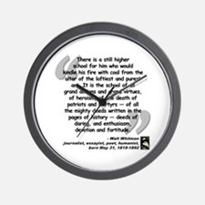 Whitman School Quote Wall Clock