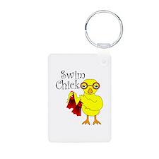 Swim Chick Text Keychains