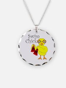 Swim Chick Text Necklace