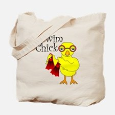 Swim Chick Text Tote Bag