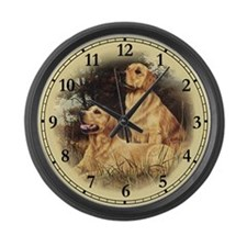 Golden Retriever Large Wall Clock