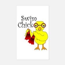 Swim Chick Text Decal