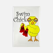 Swim Chick Text Rectangle Magnet (10 pack)