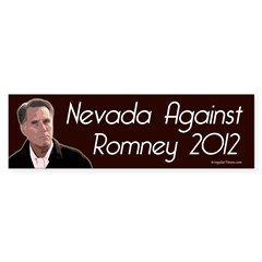 Nevada Against Romney bumper sticker