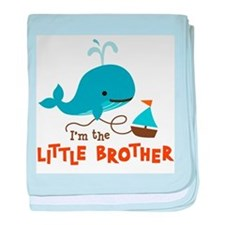 Little Brother - Mod Whale baby blanket