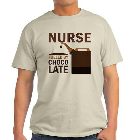 Nurse Fueled By Chocolate Light T-Shirt