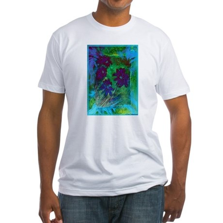 Abstract, colorful, flowers, Fitted T-Shirt