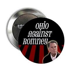 Ohio Against Romney campaign button