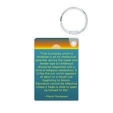 Montesssori Aluminum Photo Keychain