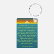 Montesssori Aluminum Photo Keychain