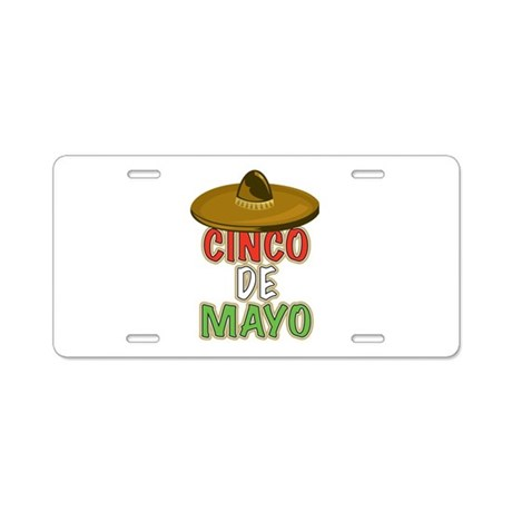 Cinco De Mayo Aluminum License Plate