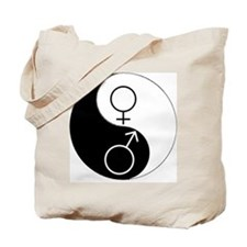 Yin Yang (WMBW) Tote Bag