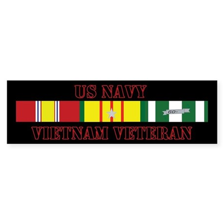 Navy Vietnam Vet 5 Star Sticker (Bumper)