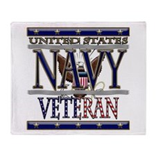 USN Navy Veteran Throw Blanket