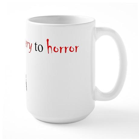 CastleTV Prefer Mystery to Horror Large Mug