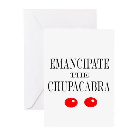 Emancipate the Chupacabra Greeting Cards (Pk of 20