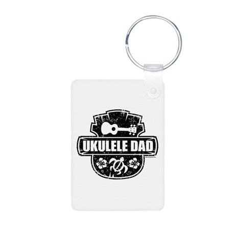 Ukulele Dad Aluminum Photo Keychain
