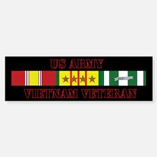 Army Vietnam Vet 4 Star Sticker (Bumper)