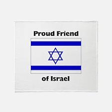 Proud Friend of Israel Throw Blanket
