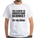 Anti religion Mens White T-shirts