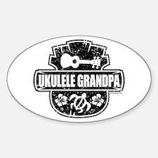 Ukulele Grandpa Sticker (Oval)