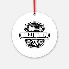 Ukulele Grandpa Ornament (Round)
