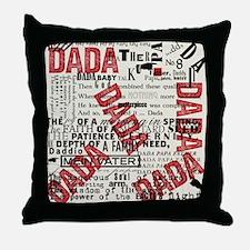 DADA Day, type Throw Pillow