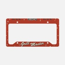 Grill Master Retro License Plate Holder