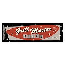 Grill Master Retro Bumper Sticker