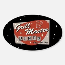 Grill Master Retro Decal