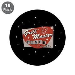 "Grill Master Retro 3.5"" Button (10 pack)"