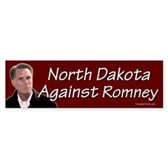 North Dakota Against Romney bumper sticker
