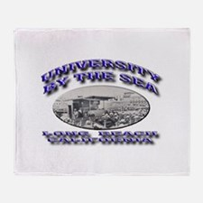 University by the Sea Throw Blanket