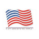 let freedom ring 38.5 x 24.5 Wall Peel