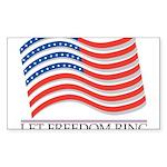 let freedom ring Sticker (Rectangle 10 pk)