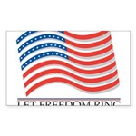 let freedom ring Sticker (Rectangle)