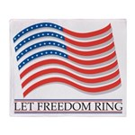 let freedom ring Throw Blanket