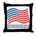 let freedom ring Throw Pillow
